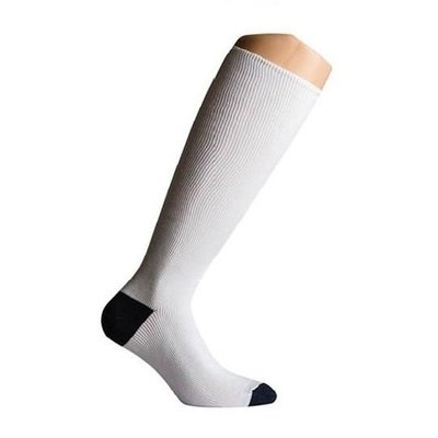 Support socks twist white and blue
