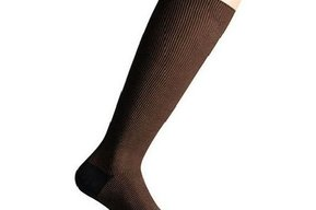 Support socks twist brown and blue