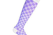 Chaussettes de contention à  damier violet, ccl 1 & 2