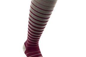 Business Stripes stödstrumpor, röd