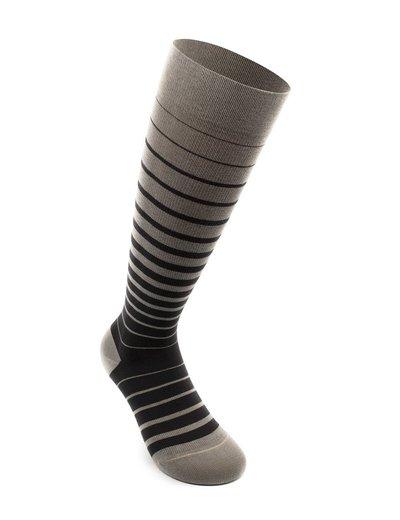 Business Stripes støttestrømper, grafittgrå