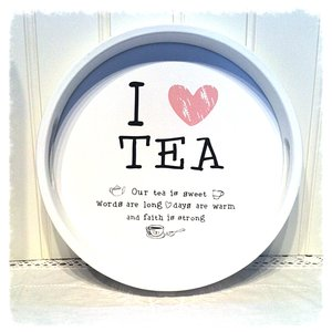 Bricka Tea - vit