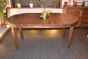 MÖRKÖ  - matbord massiv björk ovalt 140 x 95 cm + 2 ilägg 40 cm