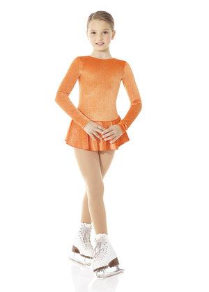 Orange klänning i glittersammet