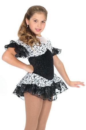 Svartvit klänning med tyllkjol
