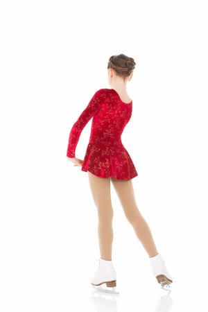 Röd sammetsklänning med glittermönster