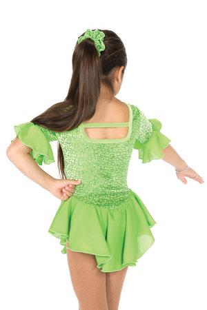 Grön klänning med trekvartslång ärm