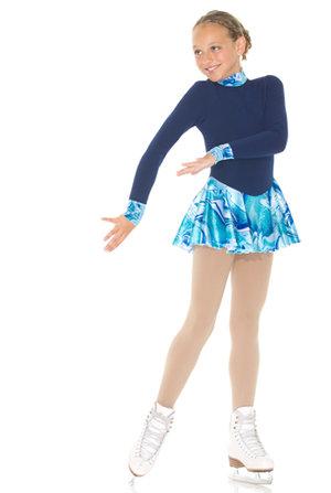 Varm klänning i Polartec med glittrig sammetskjol