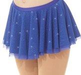 Blå rynkad kjol med massor av glitter