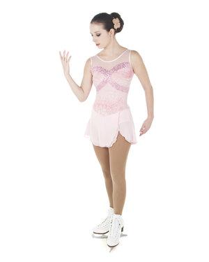 Ärmlös klänning i rosa