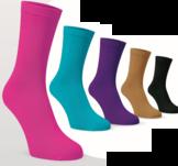 Mjuka, sköna, tunna sockor i 5 färger