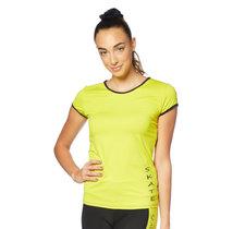 T-shirt i funktionsmaterial i gult eller fuchsia