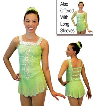 Ljusgrön axelbandsklänning
