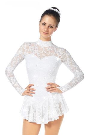 Långärmad klänning vitt med spets från Sagester