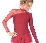Mörkröd klänning med meshdetaljer från Sagester