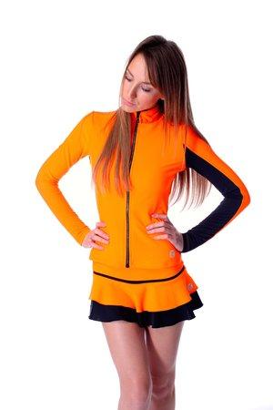 Orange neonfärgad jacka från Thuono