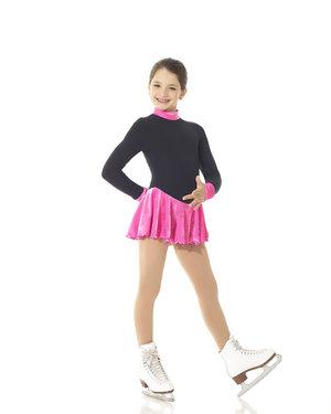 Varm klänning i Polartec med rosa glittrig sammetskjol