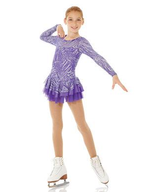 Lila klänning med glitter