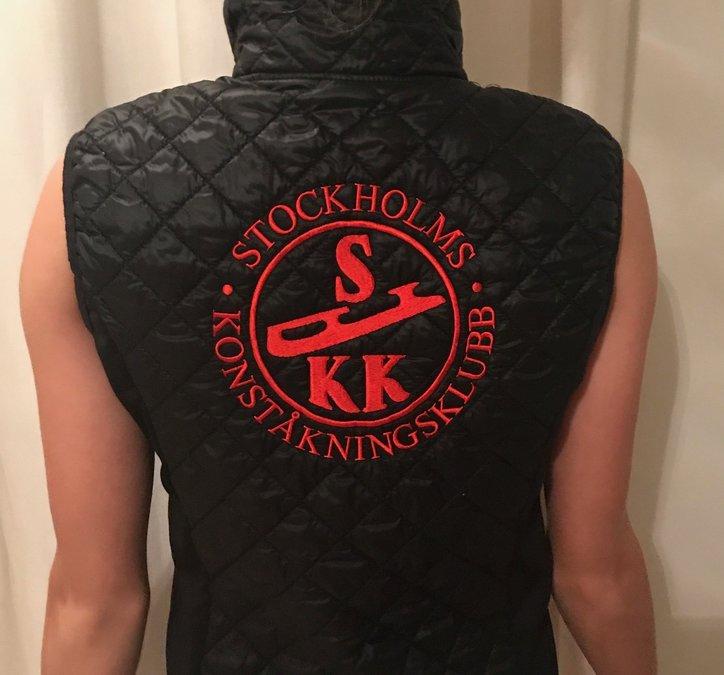 Svart klubbväst Stockholms Konståkningsklubb