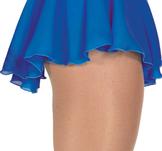 Blå kjol i georgette och sammet
