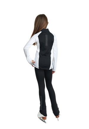 Svarta byxor från JIV med kristaller  i vitt eller färg