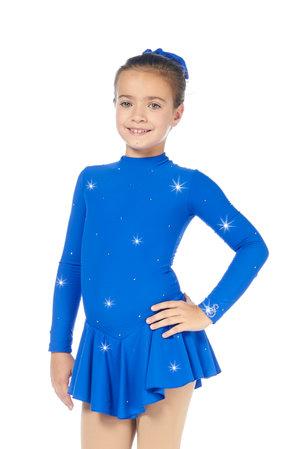 Kornblå klänning microfiber