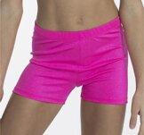 Shorts i glittrigt material i neonrosa eller svart