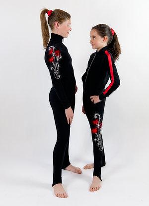 Sköna byxor från Sagester dekorerade med Swarovski i olika mönster