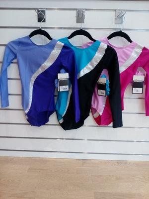 Långärmad gymnastikdräkt i 3 olika färgkombinationer