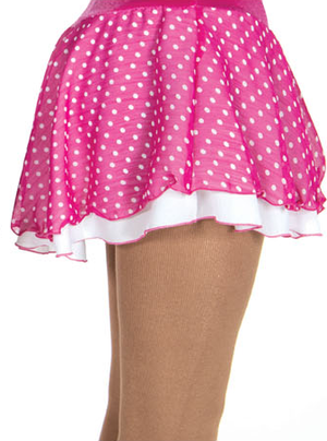 Rosa och vitprickig kjol
