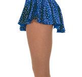 Blå  sammetskjol med glittermönster