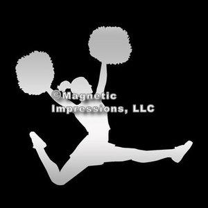 Bilmagnet med cheerleadingmotiv