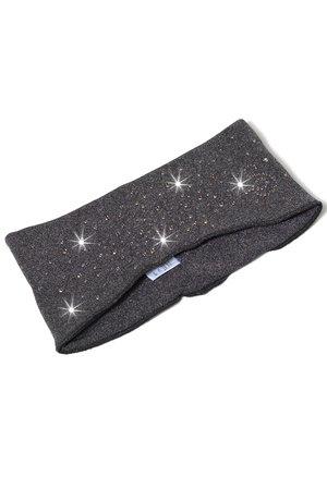 Värmande pannband i grått med kristaller