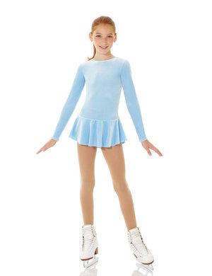 Ljusblå klänning i glittersammet
