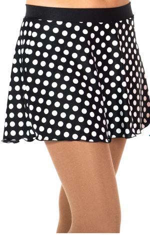 Svart och vitprickig kjol