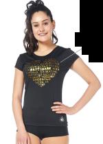 T-shirt från Sagester med guld text