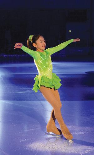 Grön sammetsklänning
