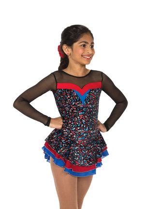Multifärgad klänning i sammet