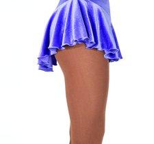 Ljuslila rynkad kjol i glittersammet