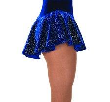 Blå sammetskjol med gllittermönster