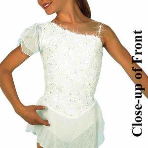 Vit ärmlös klänning