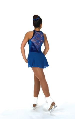 Blå ärmlös klänning