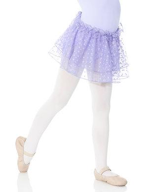 Balettkjol i lila med stjärnor