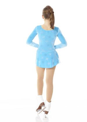 Turkos sammetsklänning med glittermönster