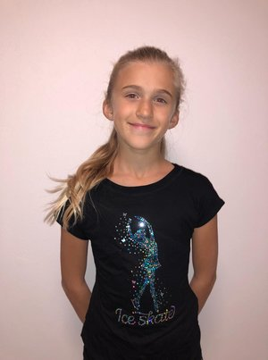 Svart T-shirt Stockholms Konståkningsklubb
