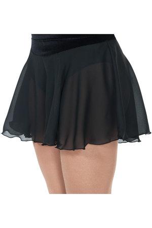 Lite längre svart kjol i georgette och sammet