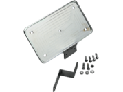 Laydown License Plate Mount ,Chr, FLSTS 97-99