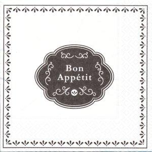 Bon appétit  ( I mönster resten vit)