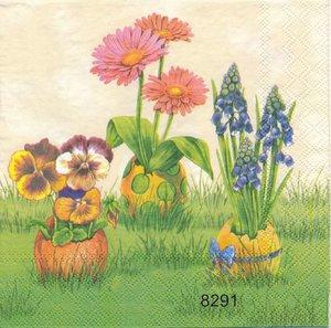 Vårblommor i ägg 2 olika motiv  8291