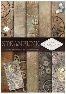 Scrapbooking papers SCRAP-043 ''steampunk''